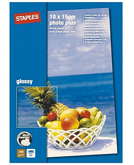 Fotopapper STAPLES Prem.10x15 gloss50/FP