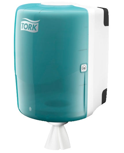 Dispenser Industritork TORK Maxi W2, vit/turkos