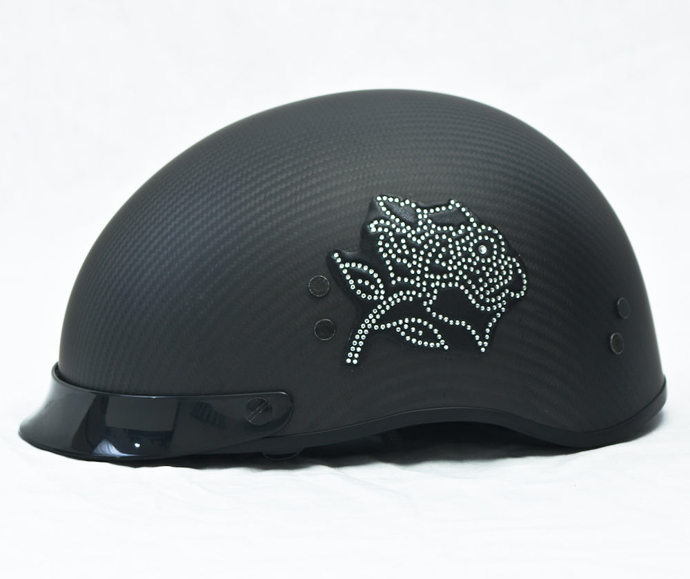 Rhinestone Helmet Patch Rose