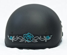 Rhinestone Helmet Patch Rose On Vine