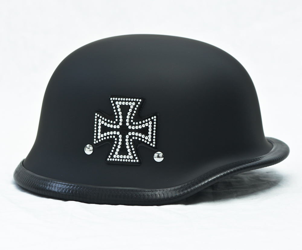 Rhinestone Helmet Patch Iron Cross