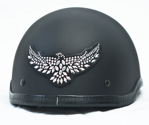 Rhinestone Helmet Patch Eagle