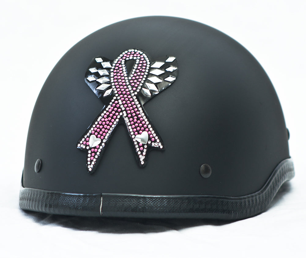 Rhinestone Helmet Patch Pink Ribbon