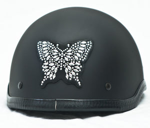Rhinestone Helmet Patch Butterfly
