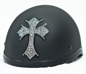Rhinestone Helmet Patch Celtic Cross