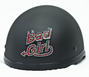 Rhinestone Helmet Patch Bad Girl