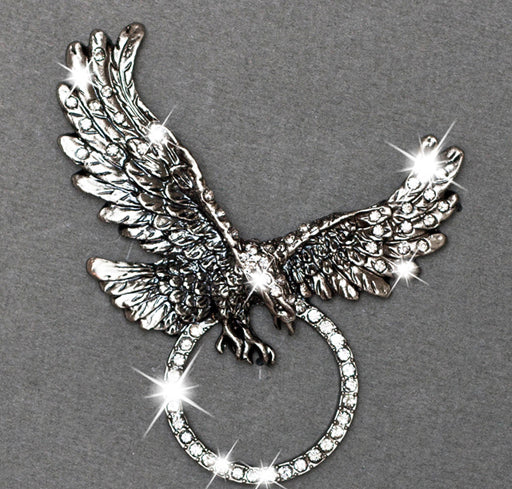 Sunglass Holder Pin Rhinestone Eagle