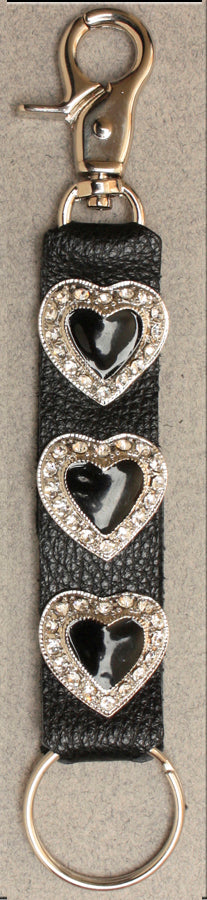 Deluxe Key Ring Rhinestone Heart