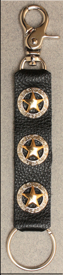 Deluxe Key Ring Texas Stars