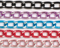Anodized Aluminum Wallet Chain w/ Diamond Cuts