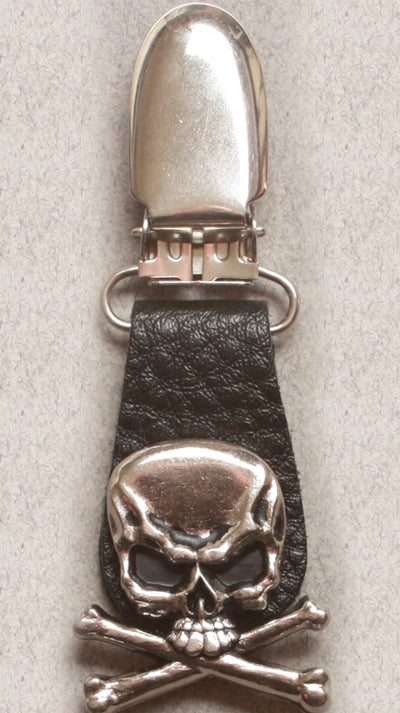 Boot Clips Skull Crossbones