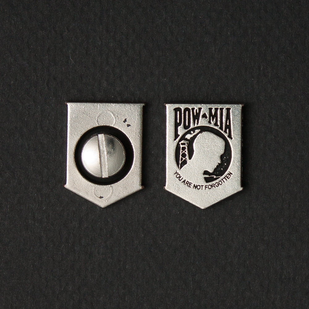 Screw On Concho POW MIA (pair)