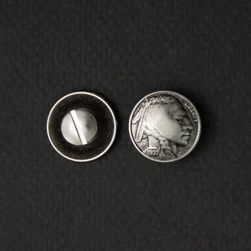 Screw On  Concho Indian Head Nickel (pair)