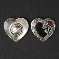 Screw On Concho Heart (pair)