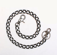 "1/2"" Black Aluminum Wallet Chain w/ Diamond Cuts"