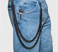 Double Steel Wallet Chain