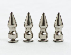 "Screw On 1"" Chrome Plated Pewter Spikes (4 pack)"