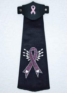 Spandex Hairtube Pink Ribbon