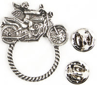 Sunglass Holder Pin Motorcycle Angel