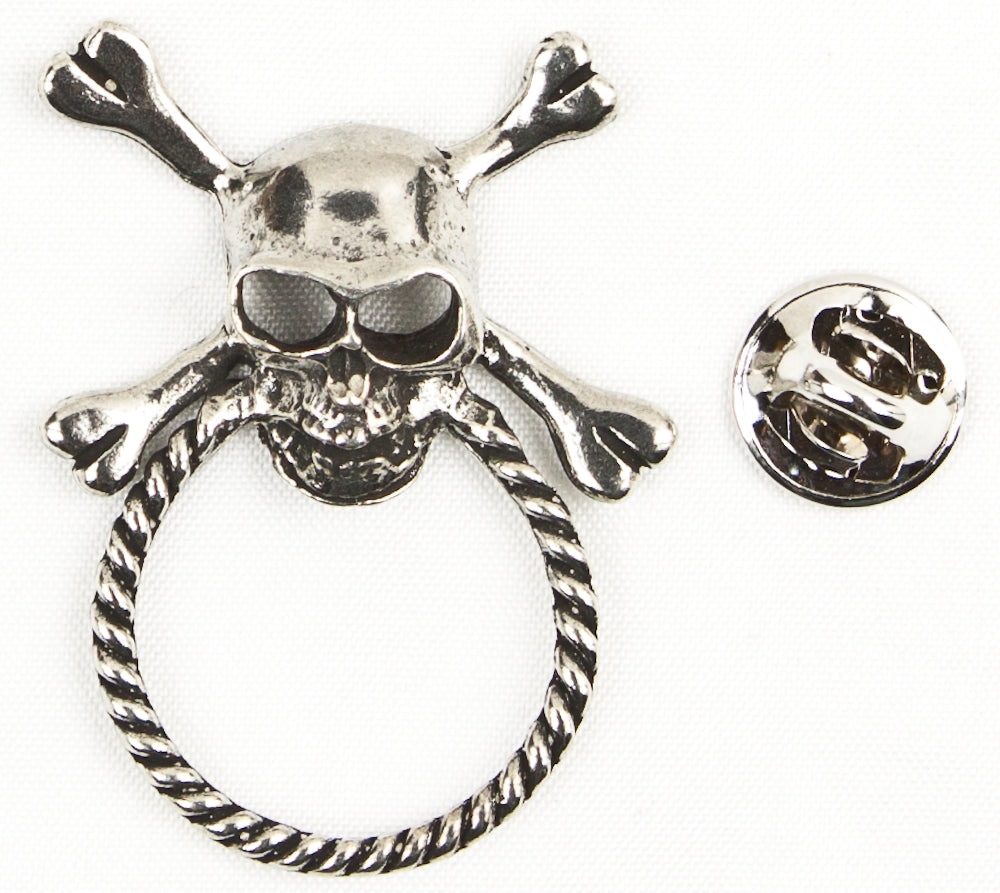 Sunglass Holder Pin Skull And Crossbones