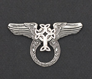 Sunglass Holder Pin Winged Celtic Cross