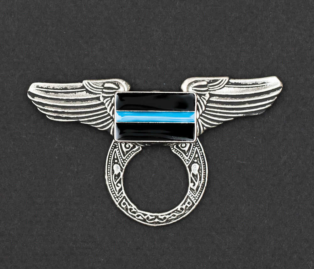 Sunglass Holder Pin Winged Thin Blue Line