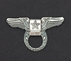 Sunglass Holder Pin Winged US Army