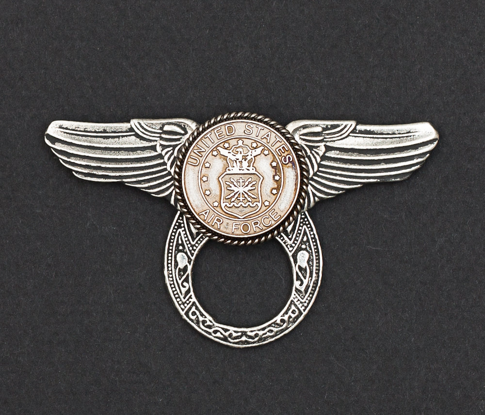 Sunglass Holder Pin Winged US Air Force