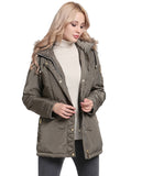 Winter Coat With Removable Fur Hood - Arista Gems