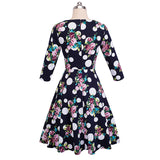 Vintage Floral Polka Print Swing Dress - Arista Gems