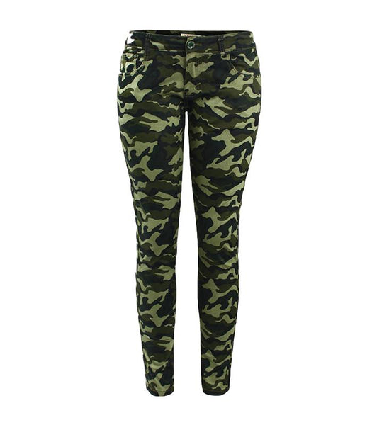 Chic Camo Army Green Skinny Jeans - Arista Gems