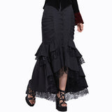 Gothic Mermaid Trumpet Skirt - Arista Gems