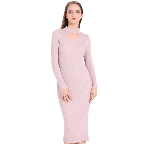 Taria Long Sleeve Knitted Dress - Arista Gems