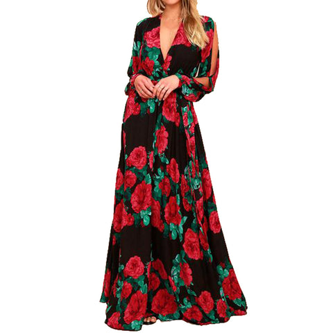 women bohemian long dress - Arista Gems