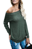 Green Women's Off Shoulder Tunic Top - Arista Gems