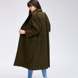 Women's Casual wool blend trench coat oversize - Arista Gems