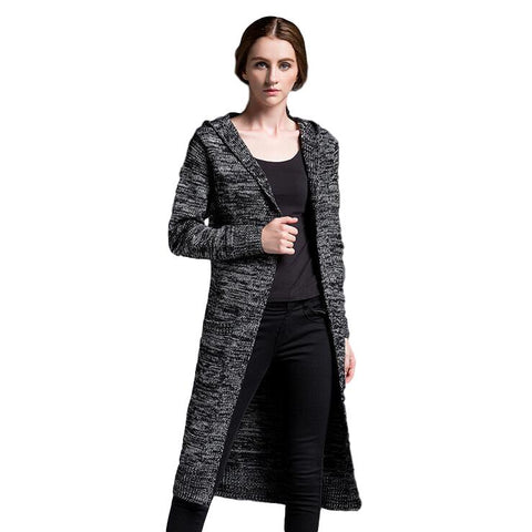 Women's Hooded Knitted Cardigan Sweater - Arista Gems