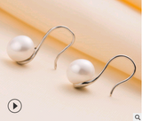 Silver freshwater pearl earrings - Arista Gems