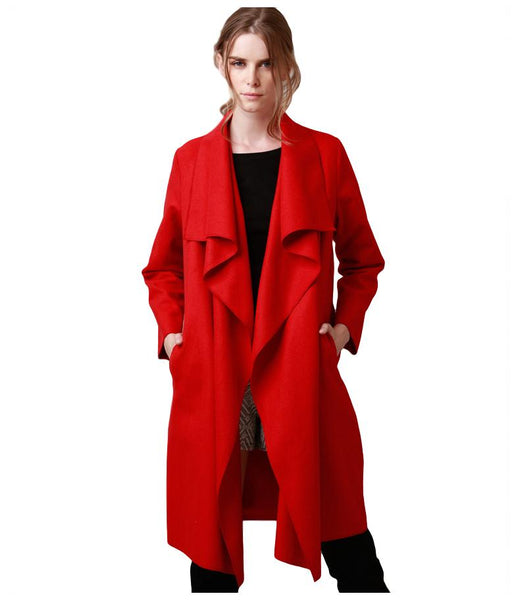 Women's Wool Blend Trench Coat - Arista Gems