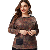 Stylish Long sleeve Patchwork Blouse - Arista Gems
