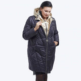 Fashion Design Golden Hooded Winter Jacket