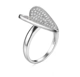 Love Heart 0.65ct Cubic Zirconia Sterling Silver Ring - Arista Gems