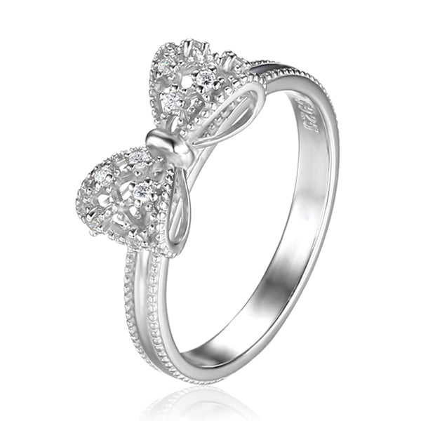 Sterling Silver Bow Ring - Arista Gems