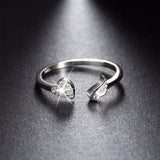 Genuine 925 Silver Adjustable Ring - Arista Gems