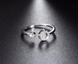 Genuine 925 Silver Paved Ring - Arista Gems
