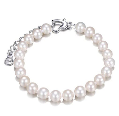 Freshwater 8-9mm Natural Pearls Bracelet - Arista Gems