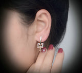 Special Design Stud Earrings with Austrian Crystal - Arista Gems