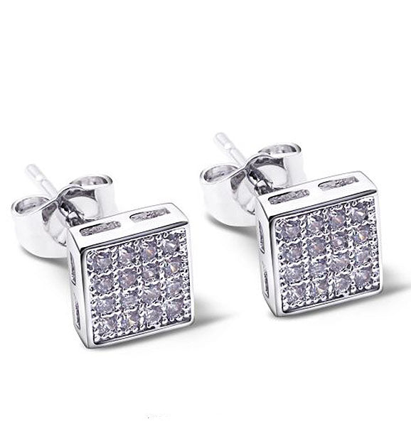 Square Shape Elegant Stud Earrings - Arista Gems
