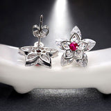 Trendy Luxury Crystal Flower Stud Earrings - Arista Gems
