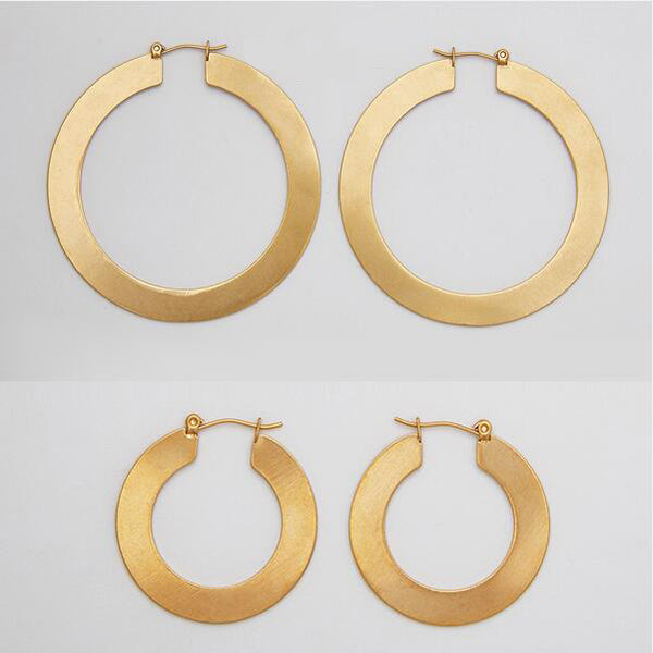 Stainless Steel Matt Color Hoop Earrings - Arista Gems